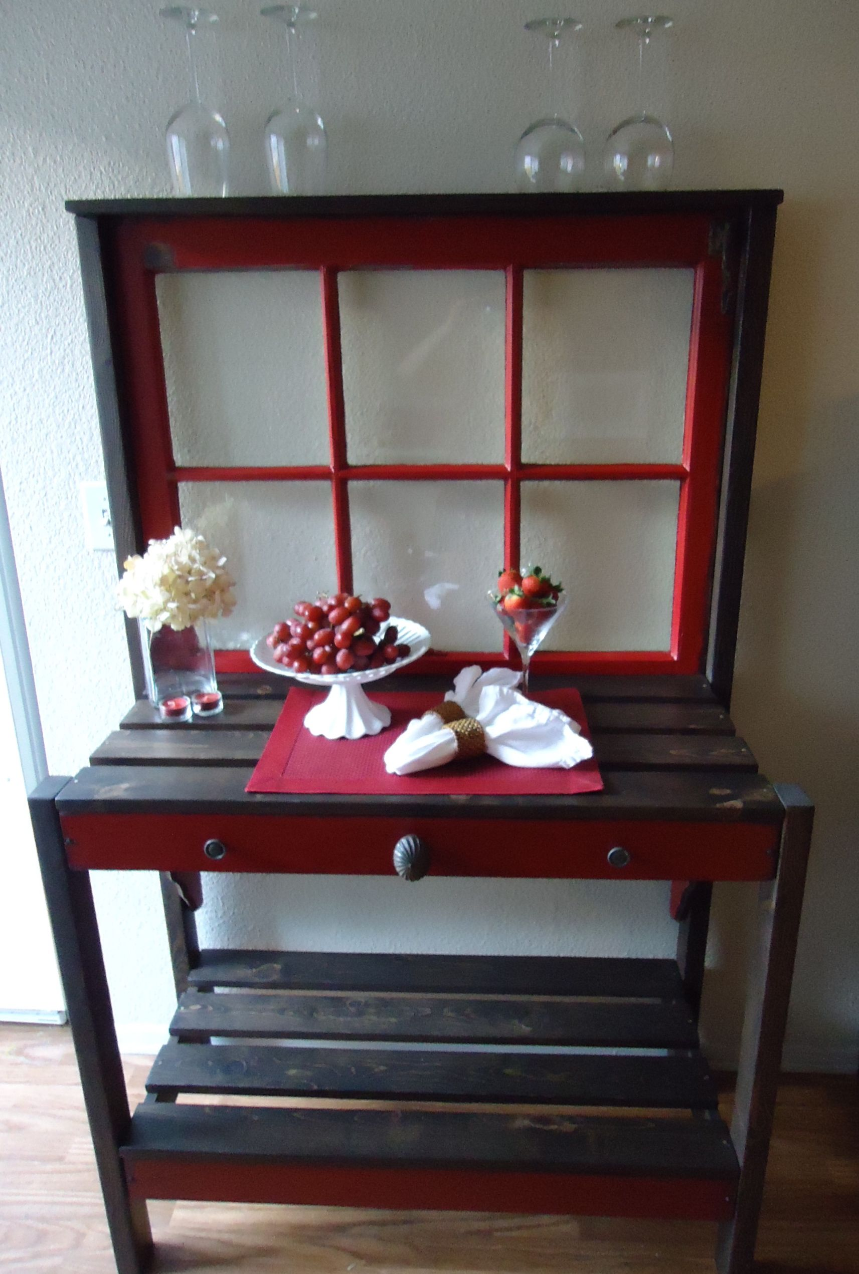 Window pane ideas  sold  s six pane window table with vintage hardware  ideas