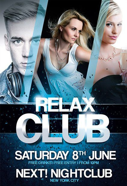 Free Relax Club Psd Flyer Template Marcelo Pinterest Psd Flyer