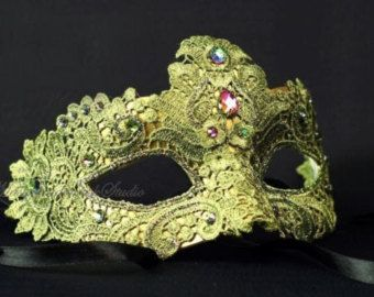 Beautiful Lace Spring Masquerade Mask- Venetian Mask Brocade Lace Masquerade Ball Mask