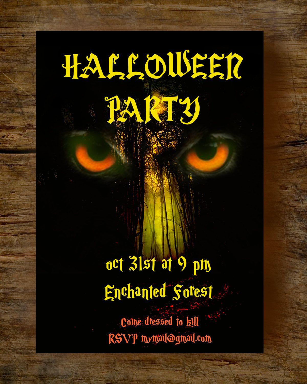 Adult Halloween Invitation, Halloween invitation printable