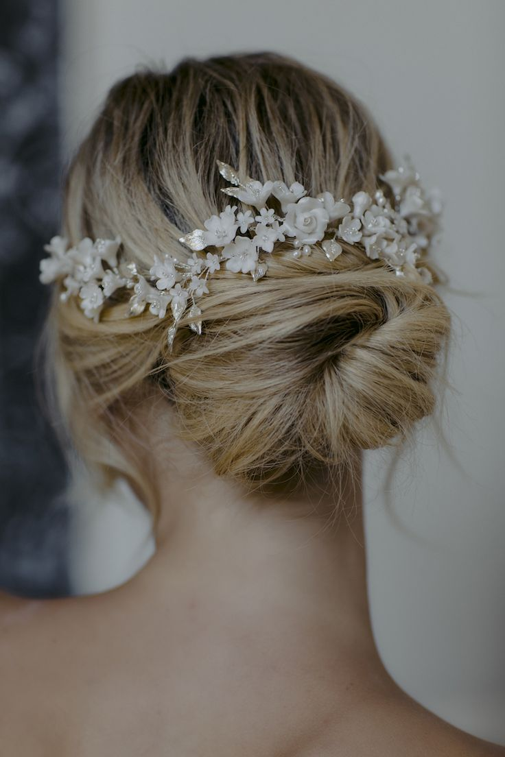 GARDENIA | wedding headpiece with flowers - TANIA MARAS | bespoke wedding headpieces + wedding veils #weddingheadpieces