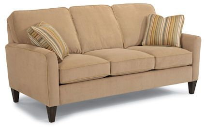 Sofa - maybe in a darker brown. Love the style, though.
