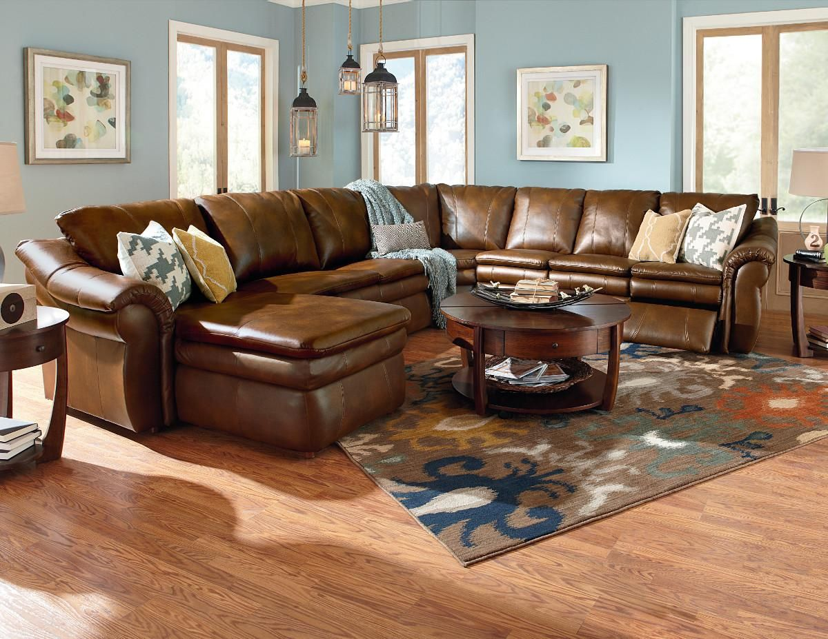 This Sleek Contemporary Leather Sectional Sofa Is A