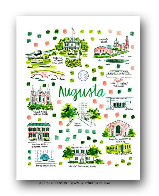 Augusta Ga Map Print Augusta Georgia Pinterest Prints Art