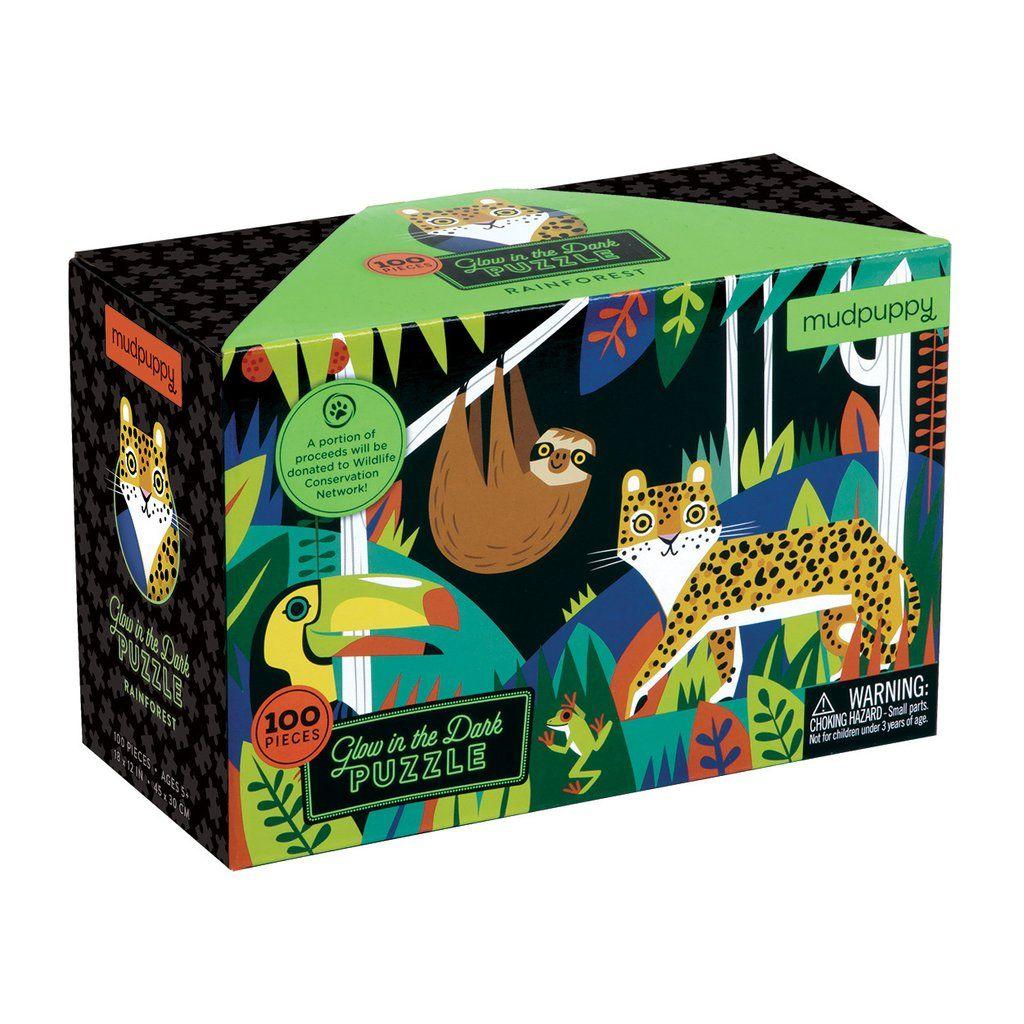 Rainforest Glow In The Dark Puzzle Glow In The Dark Jigsaw Puzzles For Kids Kids Jigsaw