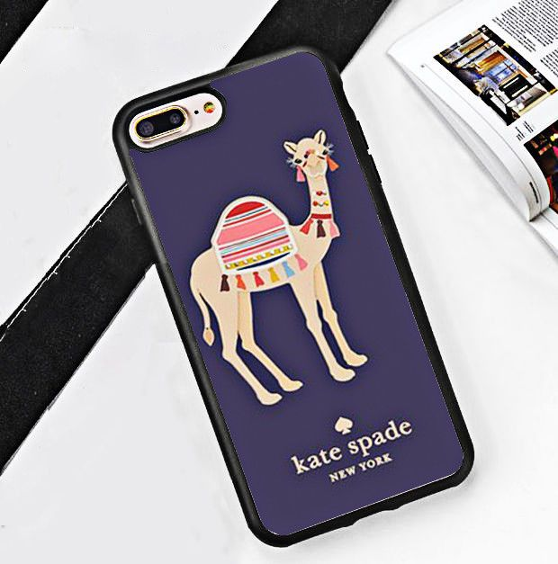 new concept 77125 231fc Camel Kate Spade.84G Oh Hello Fit Case For iPhone 6 6+ 6s 6s+ 7 7+ 8 ...