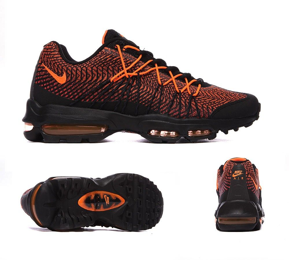 Cheap Outlet Nike Air Max 95 Ultra Jacquard Black Red Trainers
