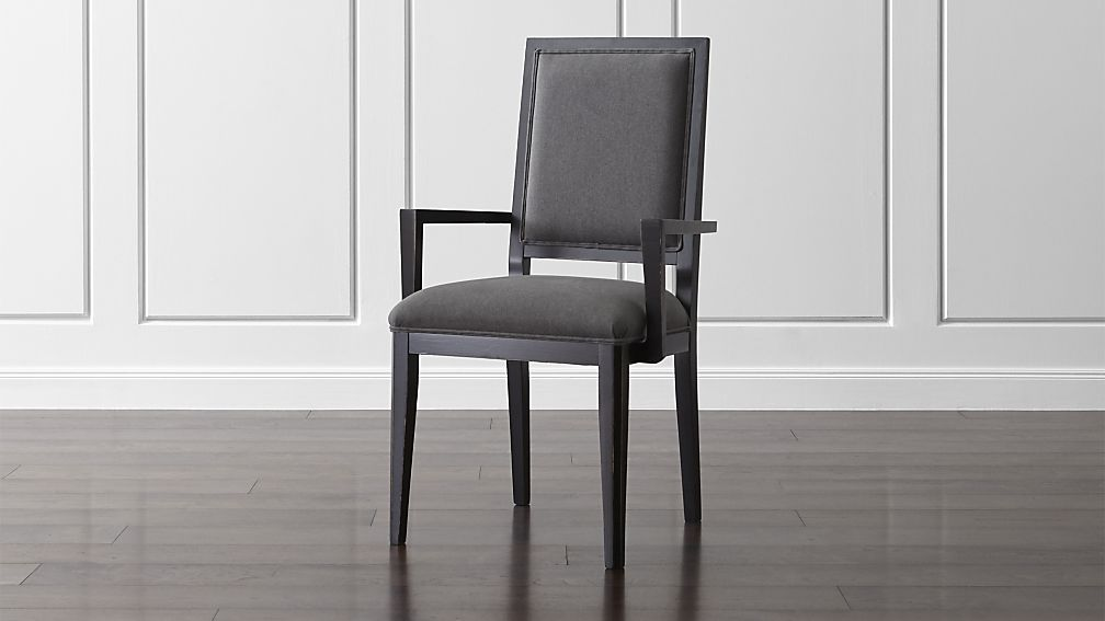 Sonata Bruno Black Dining Arm Chair Crate And Barrel
