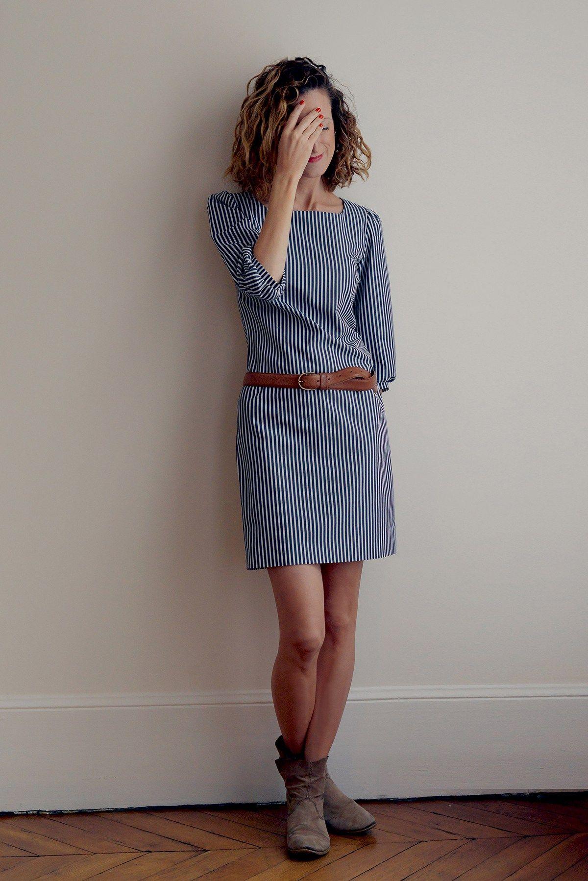 aee01c244cba9 La petite robe - patron robe femme du 34 au 48, niveau de couture  intermédiaire, finition de qualité, robe chic, doublée, manche 3 4