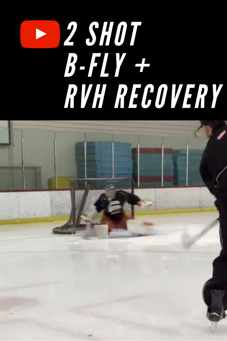 This Is A Simple Two Shot Drill Working On Edges Controlling Your Body And Recovering Out Of The Rvh Position Full Vide Hockey Drills Goalie Hockey Training