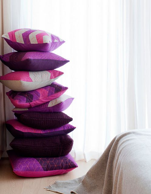 PILLOWS: Another great shot by Janis Nicolay of our new Provide Made collection