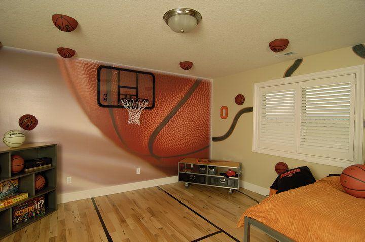 Custom Vinyl Wall Graphics Murals Basketball Bedroom