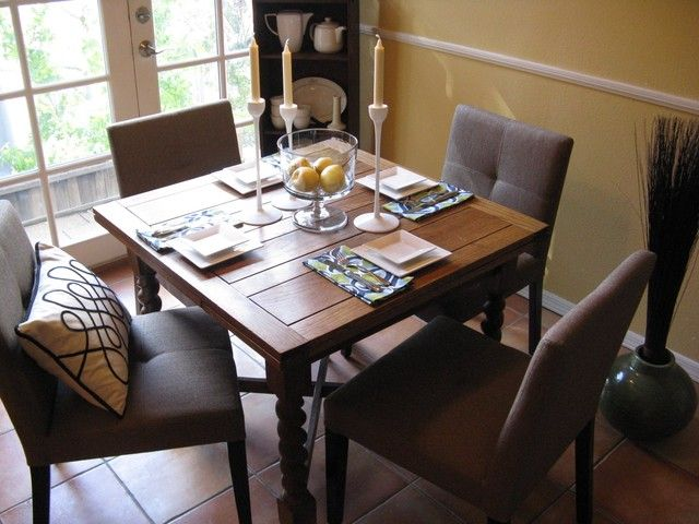 Dining Room Set Up Danish Modern Place Setting On Antique Pine Table Ii  Eclectic Pict - Dining Room Set Up Danish Modern Place Setting On Antique Pine Table