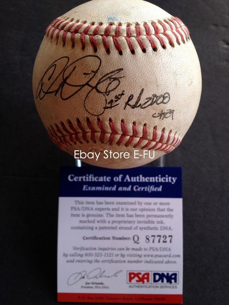 3 Adam Wainwright Signed Game Used Baseball 1st Rd 2000 Psadna