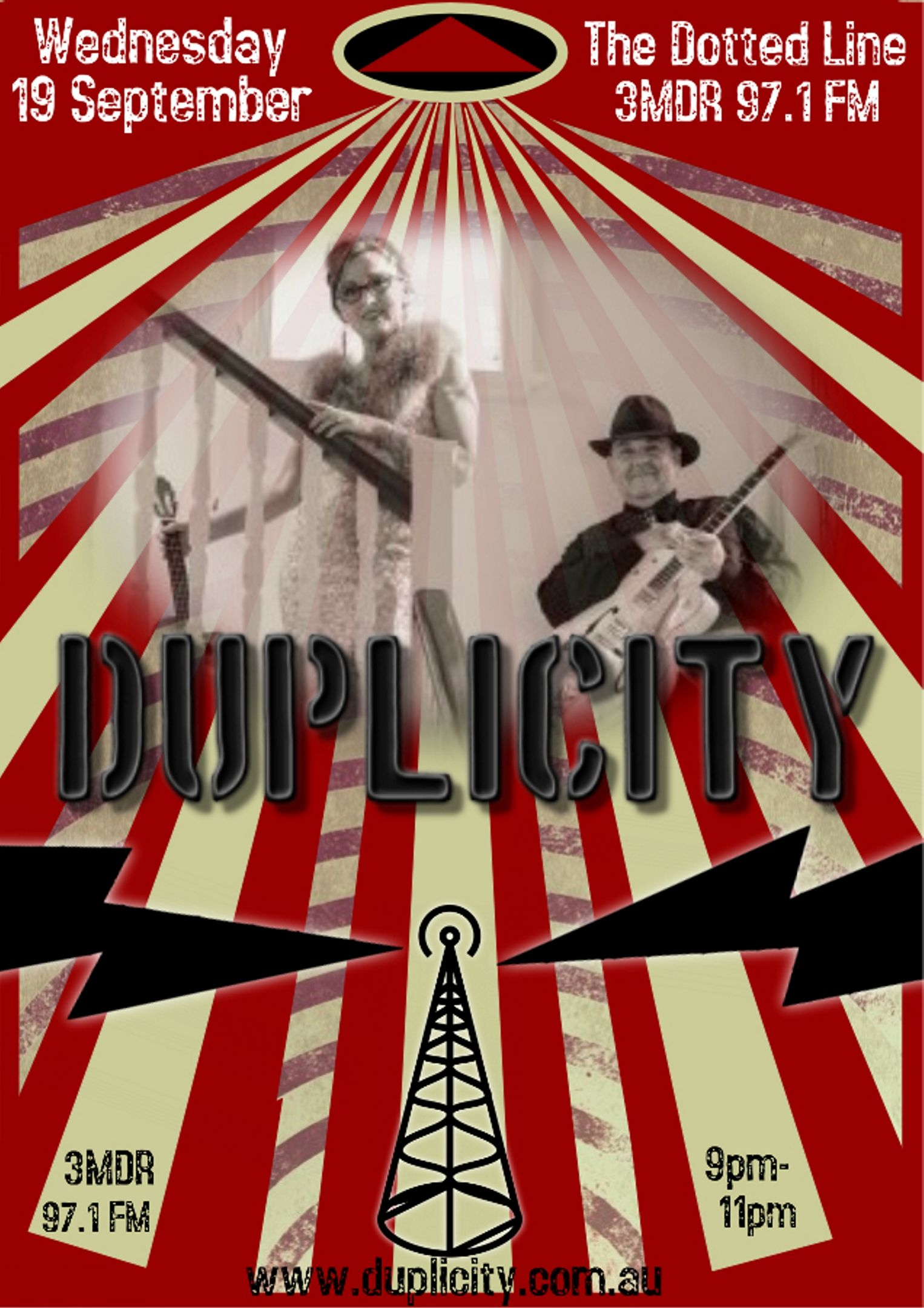 Vintage Band Poster, Radio, Music | Duplicity - Acoustic Duo