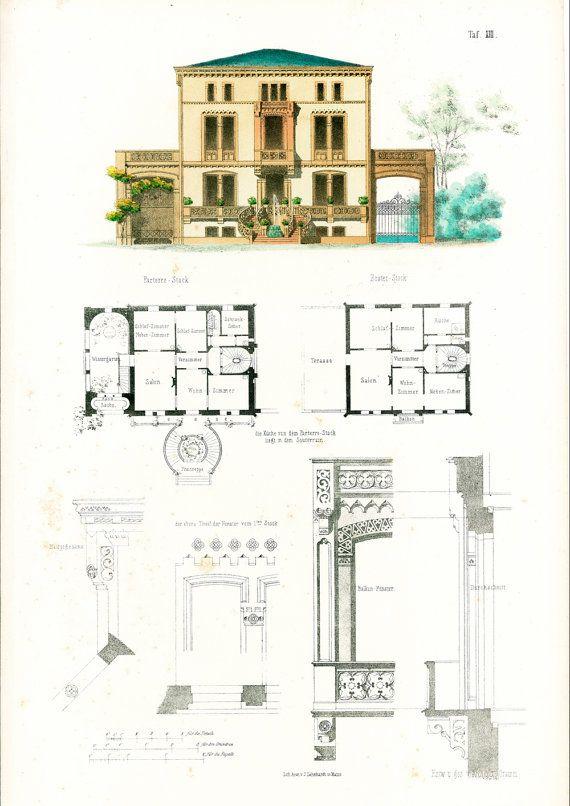 Maison Moderne De Ville Plans DArchitecte Format A Gravure