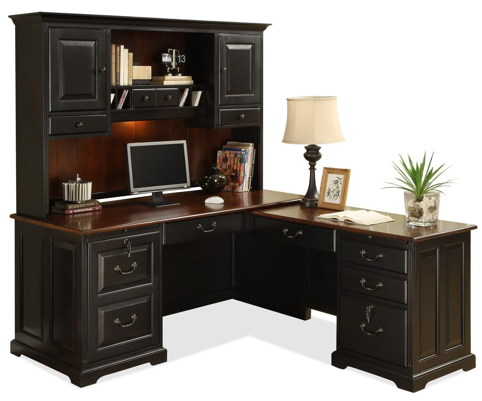 desk pdx piece management ofiselite with furniture l office suite shaped cabinet filing executive
