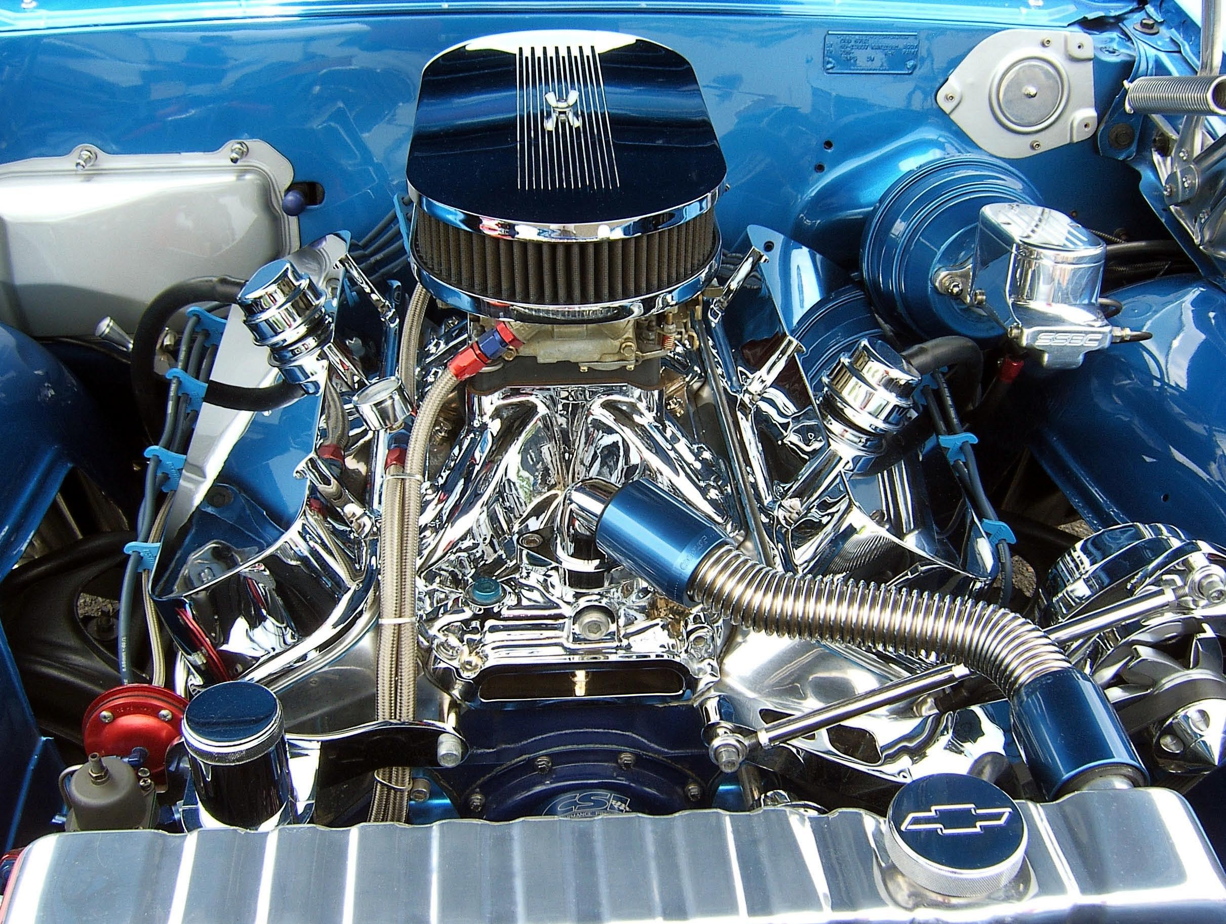 Chevelle Chrome Engine Bad Ass Engines Pinterest Engine