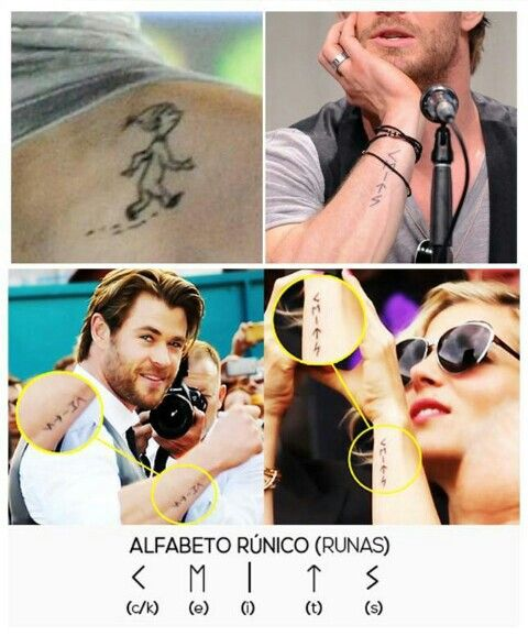 Image result for Chris Hemsworth and Elsa Pataky Got A Thor Tattoo