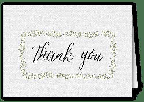 botanical outline 3x5 unique thank you cards  tiny prints