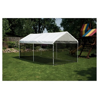 Shelter Logic 10x20 Canopy Screen Kit Black Canopy Roof Shapes Tent