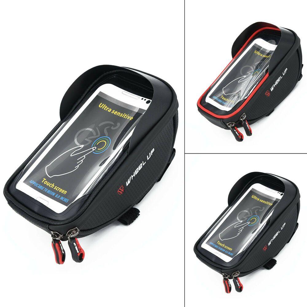 Cycling Front Frame Bicycle Bike Tube Handlebar Bag Waterproof 6/'/' Mobile Phone