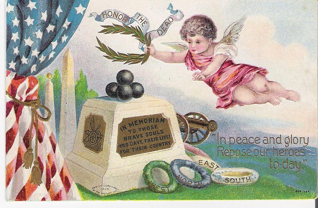 """""""In Memoriam"""" - Angel - Monument - American Flag"""