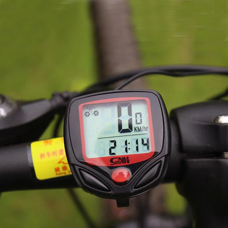 Wire Cycling Bike Computer Bicycle Waterproof LED Speedometer Odometer
