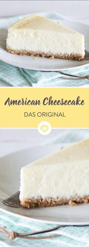 klassischer american cheesecake mit keksboden rezept kuchen kuchen k sekuchen und backen. Black Bedroom Furniture Sets. Home Design Ideas
