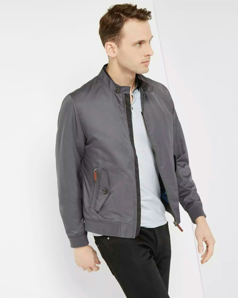 Ted Baker Carfree Jacket Designer Clothes For Men Bomber Jacket Gray Jacket [ 1000 x 800 Pixel ]