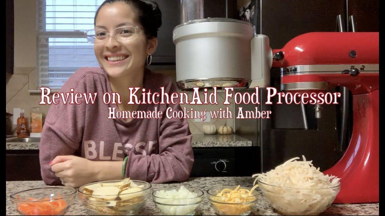 Kitchenaid food processor attachment demo review food