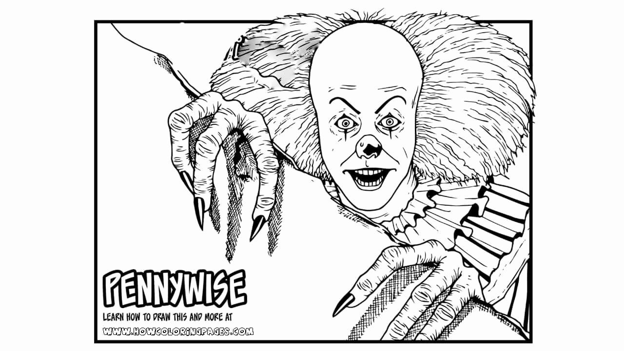 Coloring Books For Kids Inspirational Printable Pennywise Coloring Pages For Kids In 2020 Coloring Pages Coloring Books Stress Coloring Book