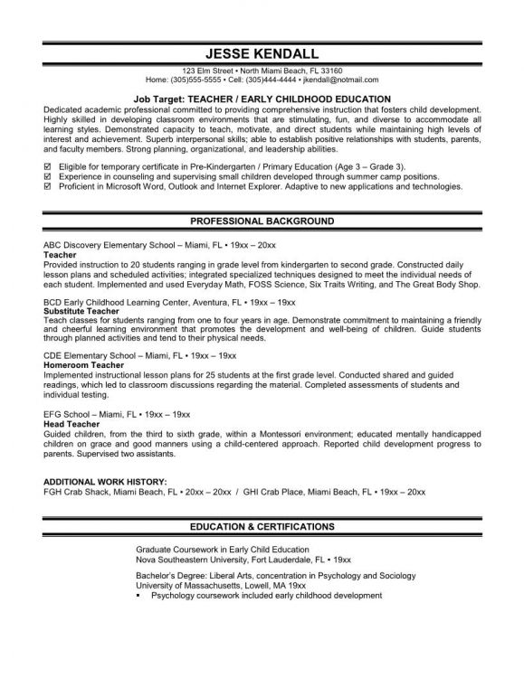 Teacher Resume Skills Format Download Pdf Skill How Write Section