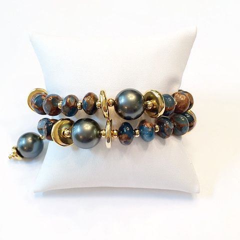 Shell Pearl and Agate Double Wrap Bracelet – Judy Crouse Jewelry