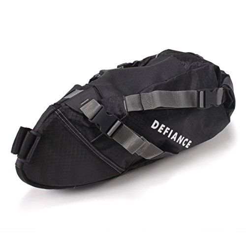 Bike Seat Packs - Defiance Pak Ratt 2 Large Bike Packing Saddle Bag Black ** For more information, visit image link.