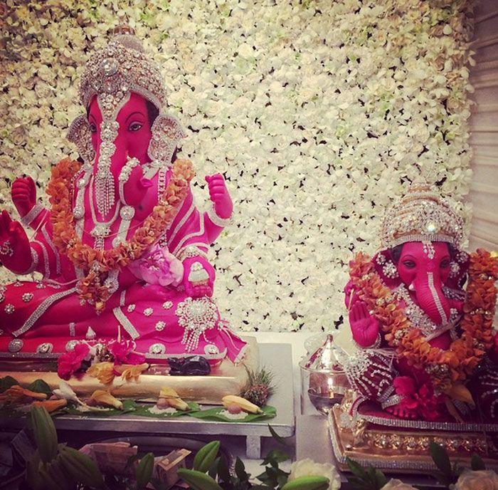 Govinda Daughter Narmmadda And Other Celebs Celebrate Ganesh
