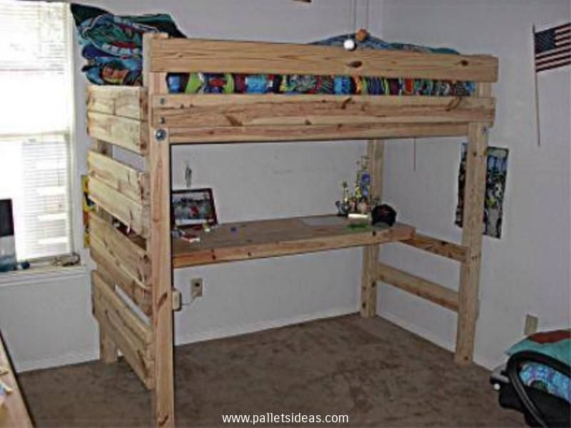 Loft Beds Made From Pallets Google Search Apartment Bedroom