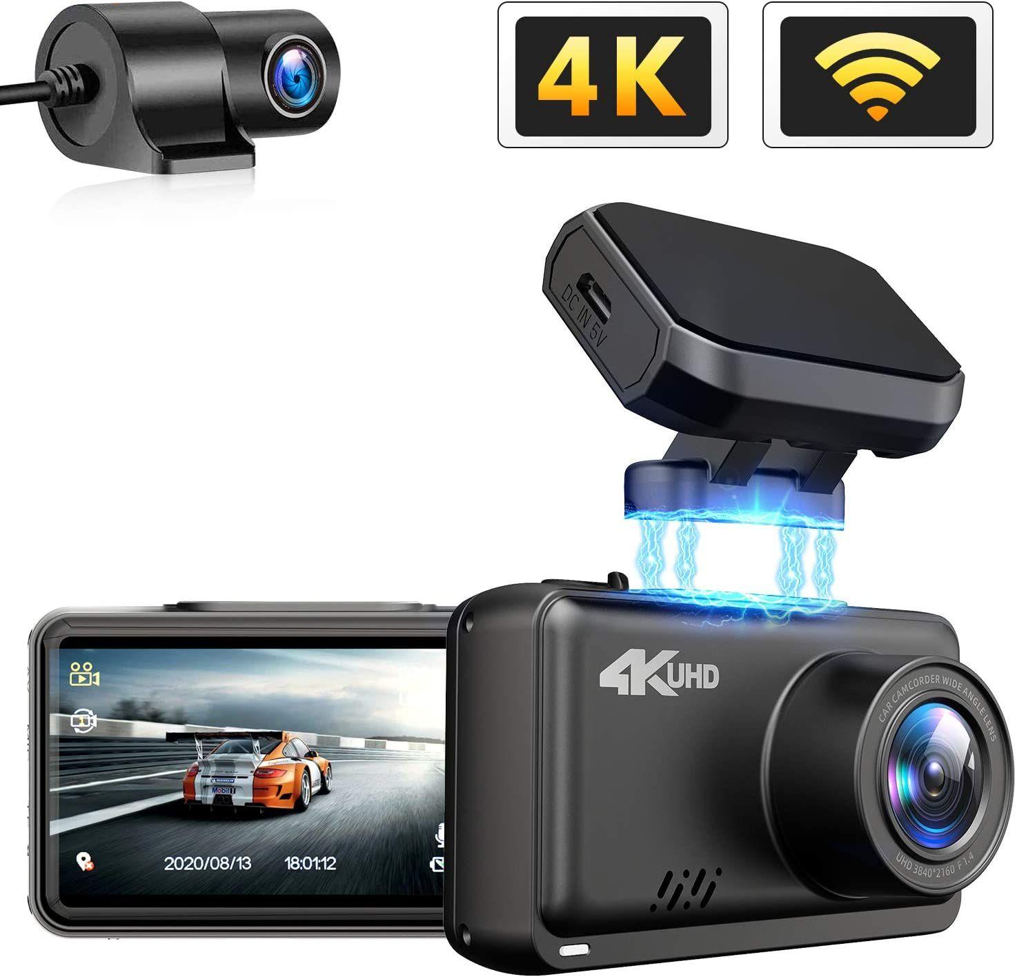 Jomise Dual Dash Cam 4k 1080p Built In Wifi Gps Car Dashboard Camera Recorder With Uhd 3840x2160p Dashcam Dash Camera Gps