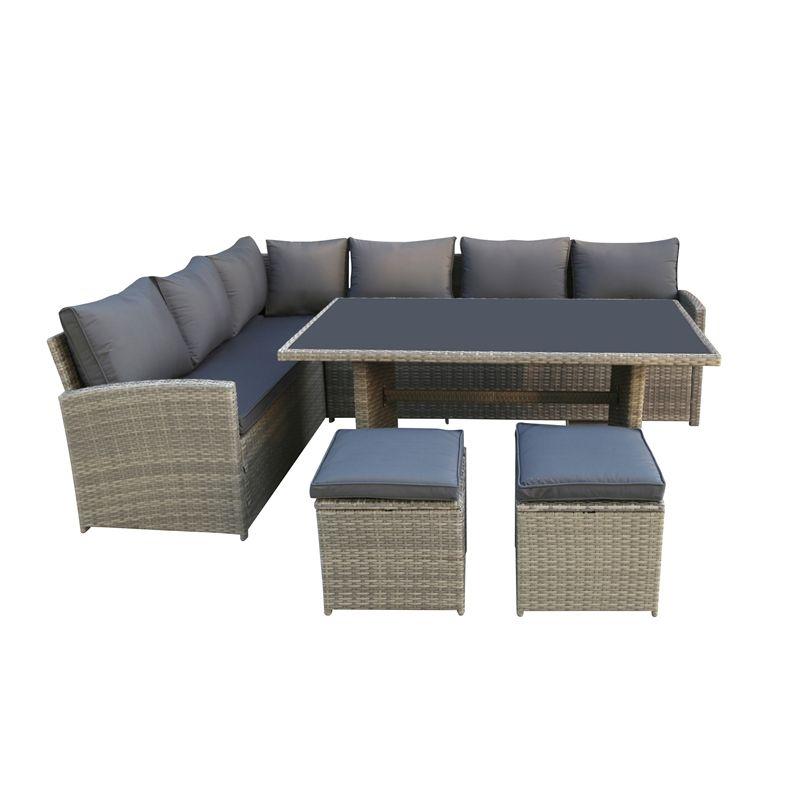 Stupendous Matara Rattan Corner Sofa Dining And Garden Furniture Set Cjindustries Chair Design For Home Cjindustriesco