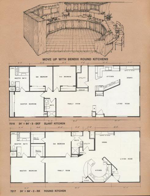 1976 Bendix 400 Mobile Home Catalog RV Camper Brochure in ... on mississippi state housing floor plans, 18' wide mobile home plans, shultz homes floor plans, redmond mobile homes floor plans,
