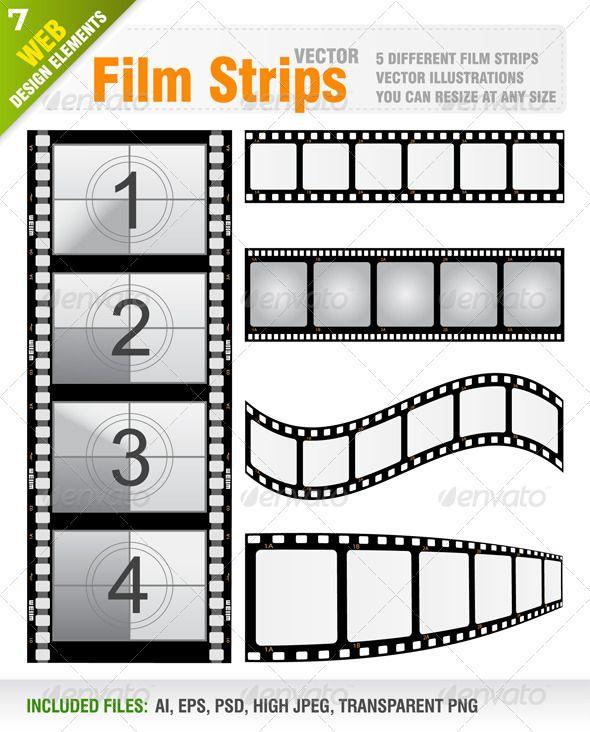 Vector Film Strips | Design, Filmstrip and Studios