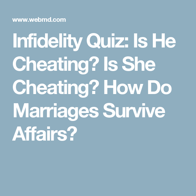 how to know if she is cheating quiz
