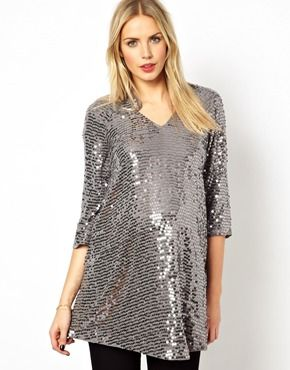 65742c5fbbcf2 Isabella Oliver Sequin Tunic on ASOS #maternity #newyearseve #dress ...