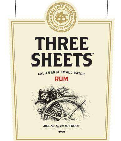 Three Sheets Rum Ballast Point Craft Spirits Rum Ballast Point