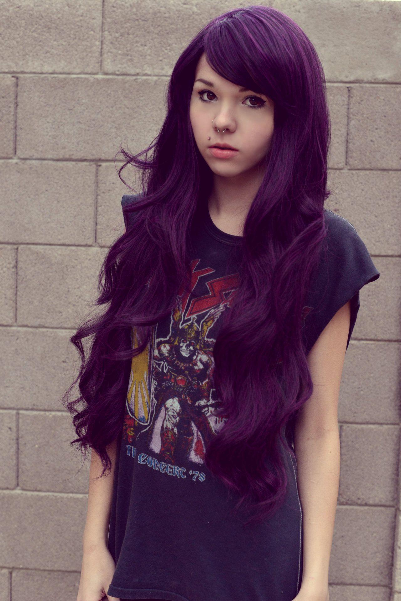 kickass girl with purple hair
