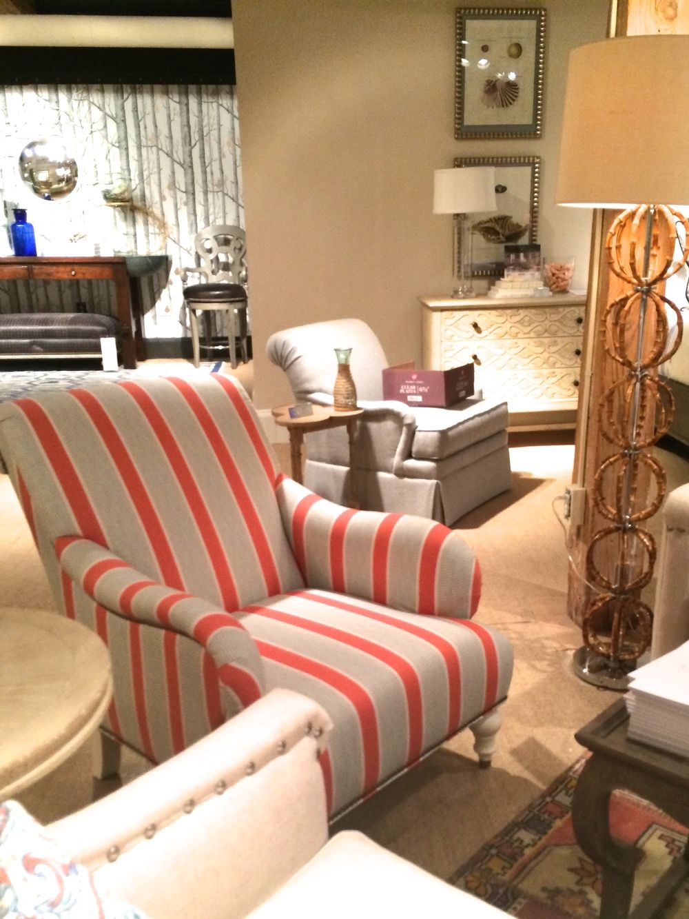 Arm Chair In Tilton Fenwick Fabric Eze Coral 21087 31 Find The