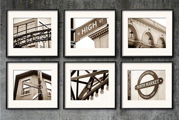 Columbus Ohio Photography Short North Art Prints High Street Etsy Ohio Wall Art Print Sets Stylish Wall Art