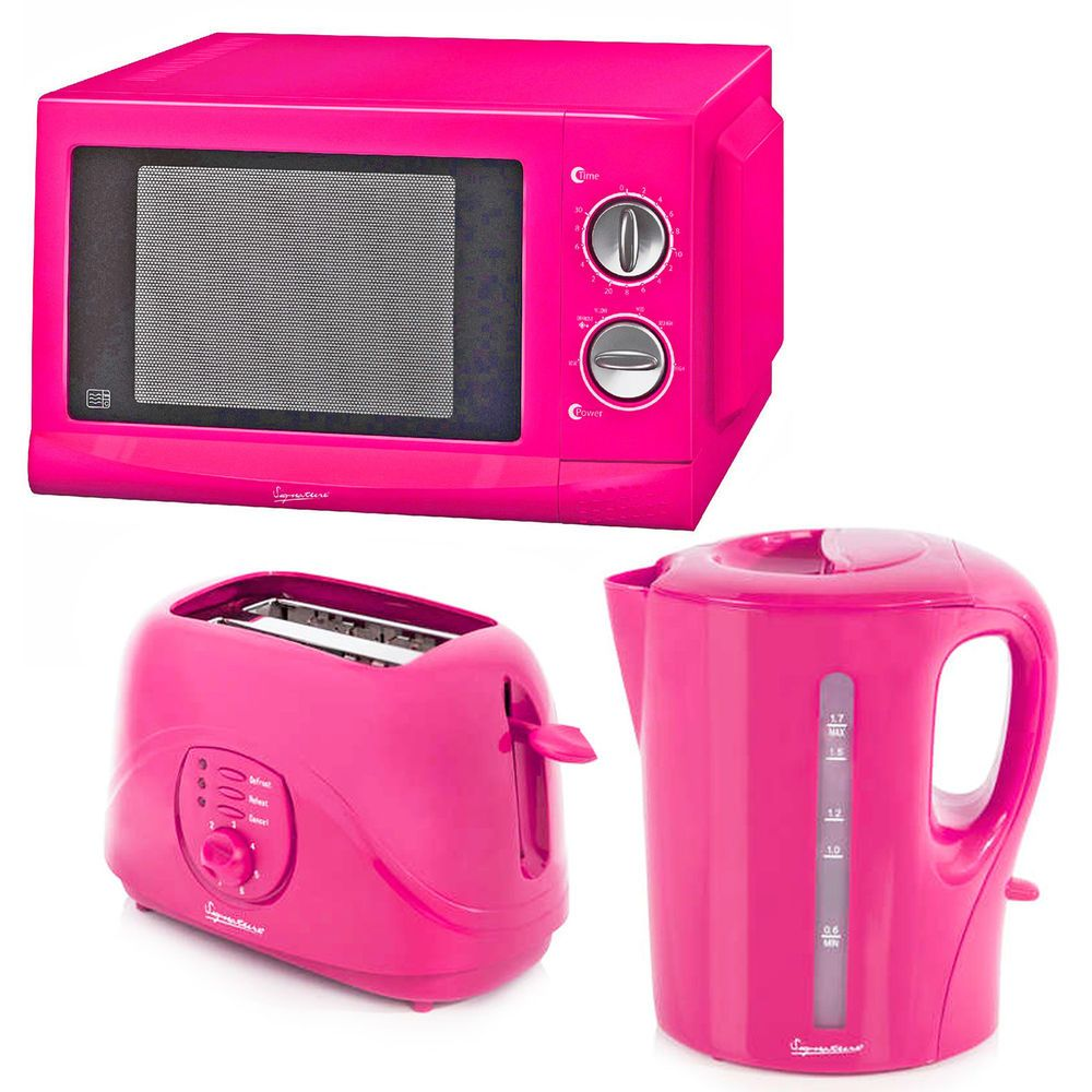 New Signature Pink Microwave Kettle Amp Toaster Pink