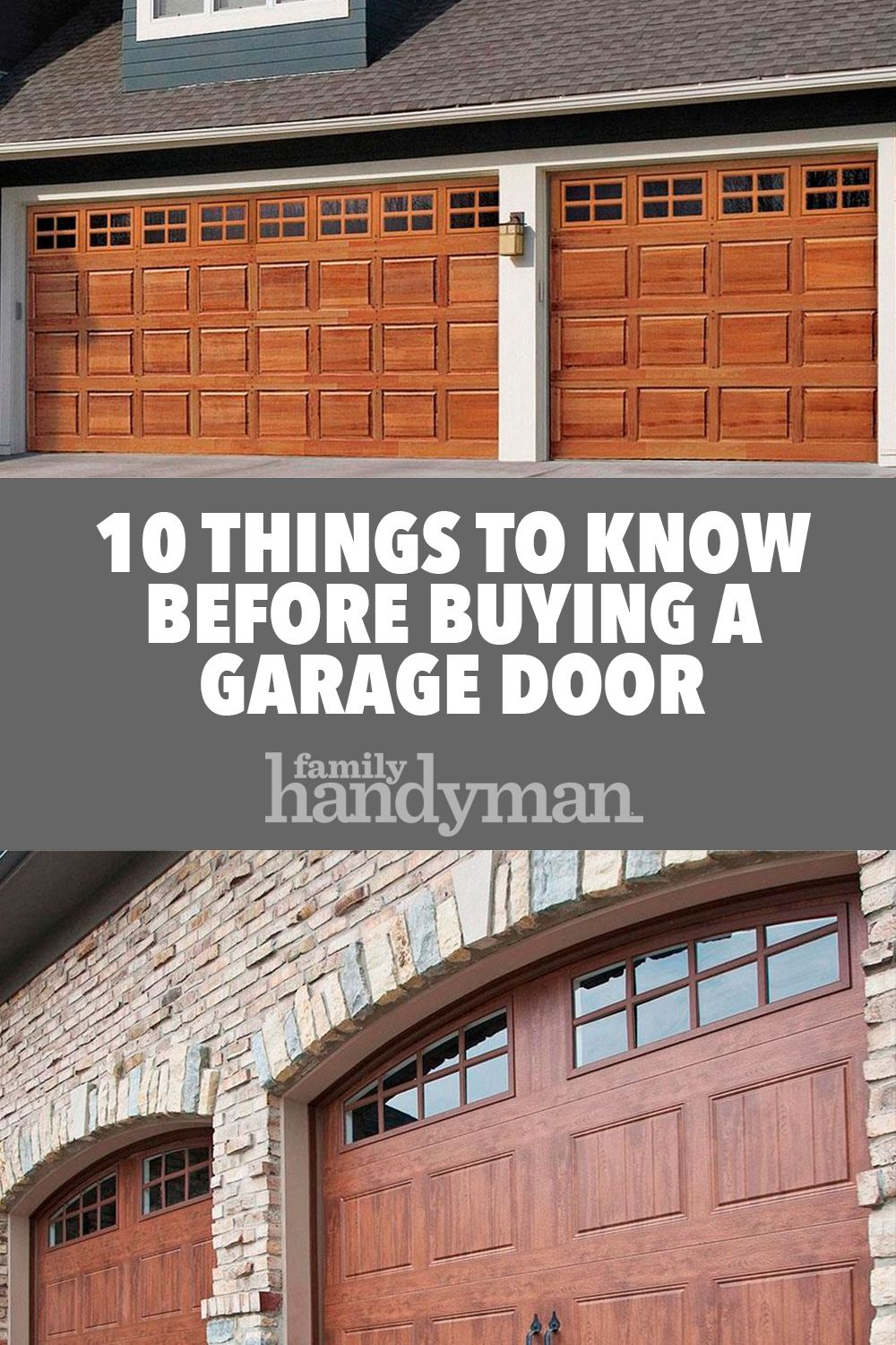 10 Things To Know Before Buying A Garage Door Garage Doors Buy A Garage Garage Door Design