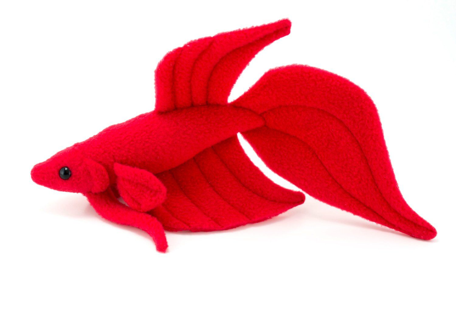 Red Betta Fish Stuffed Animal Plush Toy Veil Tail Type Betta